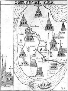 15th century map of Thanet